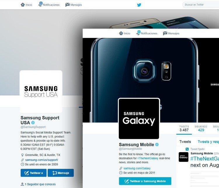 Samsung-Twitter-accounts